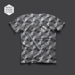 01-T-Shirt--abstract-hexagon-Pattern